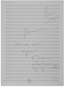 Trio for Clarinet, Viola and Piano: Composer's Sketches by Ernst Levy