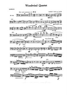 Woodwind Quartet: Score and parts by Nancy Van de Vate