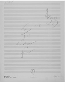 Trio No.1 for Clarinet, Cello and Piano: Composer's Sketches by Ernst Levy