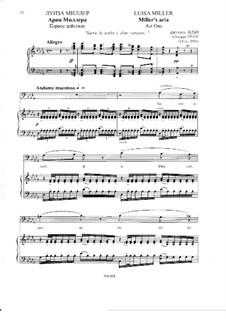 Luisa Miller: Act I, Aria of Miller 'Sacra la scelta' by Giuseppe Verdi
