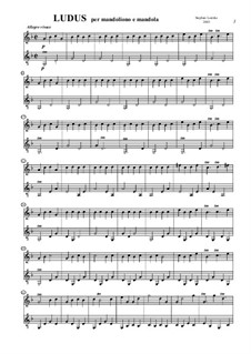 Ludus per mandolino e mandola, sl 028: Ludus per mandolino e mandola by Stephan Loetzke