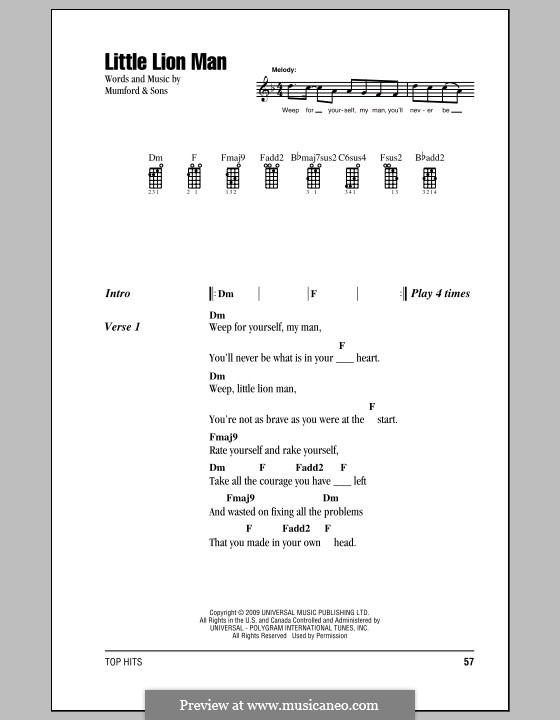 Little Lion Man (Mumford & Sons): For ukulele by Marcus Mumford