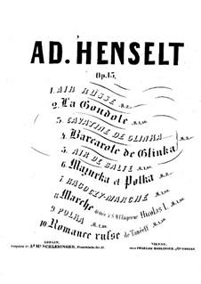 Ten Pieces for Piano, Op.13: Complete set by Adolf von Henselt
