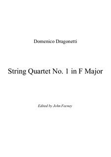 String Quartet No.1 in F Major: Full score by Domenico Dragonetti