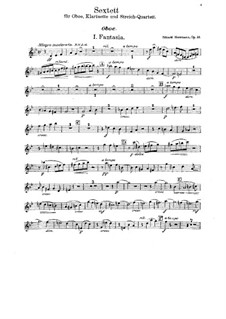 Sextet for Oboe, Clarinet and String Quartet, Op.33: Parts by Eduard Herrmann