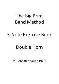 3-Note Exercise Book: Double Horn by Michele Schottenbauer