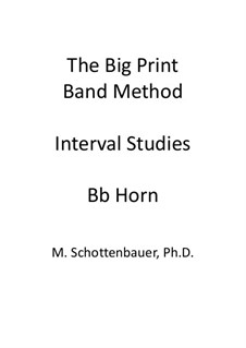 Interval Studies: Horn in Bb by Michele Schottenbauer