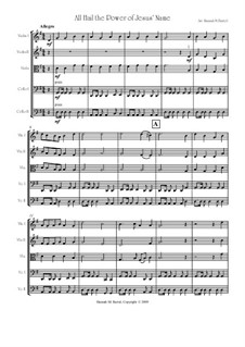 All Hail the Power of Jesus' Name: For string quintet (or orchestra) by Oliver Holden