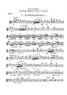 Lašské tance (Lachian Dances), JW 6/17: Dances No.1-2 – flutes parts by Leoš Janáček