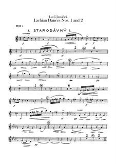 Lašské tance (Lachian Dances), JW 6/17: Dances No.1-2 – oboes and cor anglais parts by Leoš Janáček