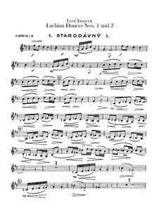 Lašské tance (Lachian Dances), JW 6/17: Dances No.1-2 – clarinets parts by Leoš Janáček