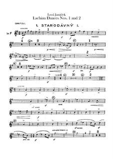 Lašské tance (Lachian Dances), JW 6/17: Dances No.1-2 – french horns parts by Leoš Janáček