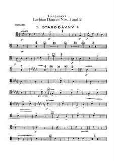 Lašské tance (Lachian Dances), JW 6/17: Dances No.1-2 – trombones parts by Leoš Janáček