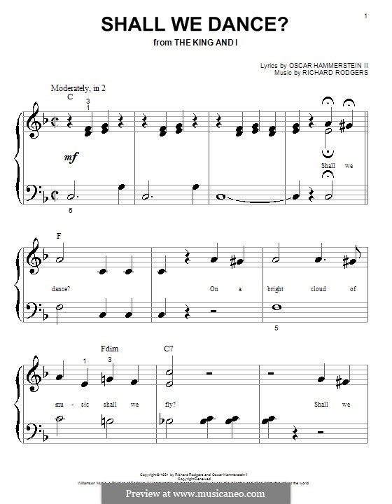 Shall We Dance? (from The King and I): For piano by Richard Rodgers