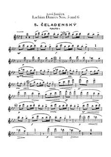 Lašské tance (Lachian Dances), JW 6/17: Dances No.5-6 – flutes parts by Leoš Janáček