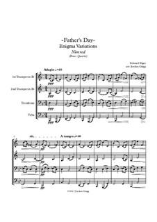 Variation No.9 'Nimrod': For brass quartet by Edward Elgar