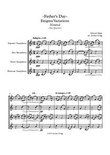 Variation No.9 'Nimrod': For saxophone quartet by Edward Elgar