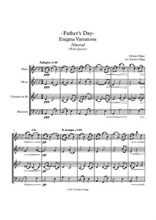 Variation No.9 'Nimrod': For wind quartet by Edward Elgar