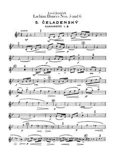 Lašské tance (Lachian Dances), JW 6/17: Dances No.5-6 – clarinets parts by Leoš Janáček