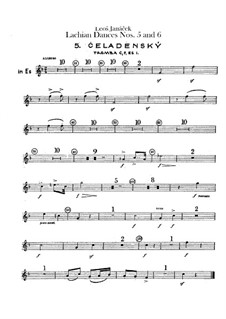 Lašské tance (Lachian Dances), JW 6/17: Dances No.5-6 – trumpets parts by Leoš Janáček