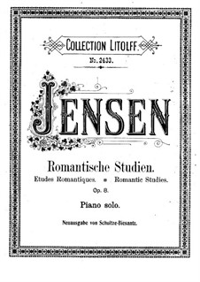 Romantic Studies, Op.8: No.1-4 by Adolf Jensen