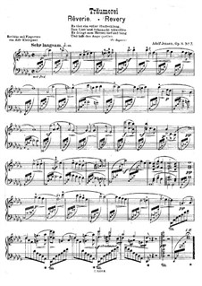 Romantic Studies, Op.8: No.7 Revery for a single performer by Adolf Jensen