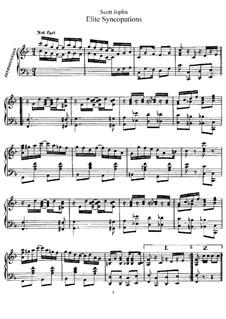 Elite Syncopations: For piano by Scott Joplin
