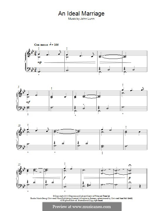 An Ideal Marriage: For piano by John Lunn