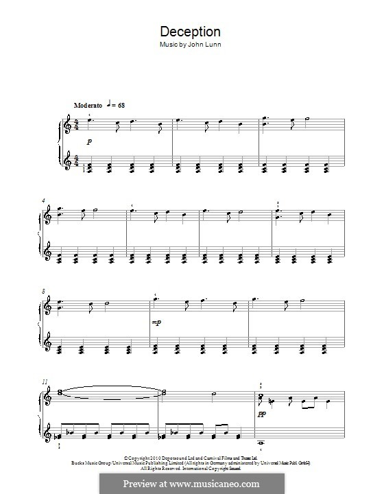 Deception: For piano by John Lunn