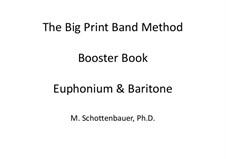Booster Book: Baritone & Euphonium (3-Valve) by Michele Schottenbauer