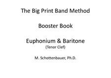 Booster Book: Baritone & Euphonium (3-Valve) Tenor Clef by Michele Schottenbauer