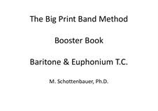 Booster Book: Baritone & Euphonium (3-Valve) Treble Clef (T.C.) by Michele Schottenbauer
