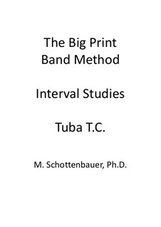 Interval Studies: Tuba (3-Valve) Treble Clef (T.C.) by Michele Schottenbauer