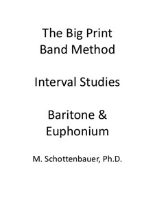 Interval Studies: Baritone & Euphonium (3-Valve) by Michele Schottenbauer