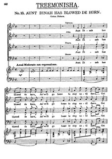 Treemonisha: No.18 Aunt Dinah Has Blowed De Horn by Scott Joplin