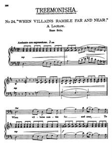 Treemonisha: No.24 When Villains Ramble Far and Near by Scott Joplin