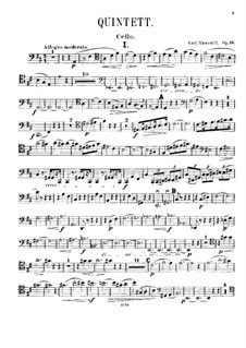 Piano Quintet in D Major, Op.16: Cello Part by Karel Navratil