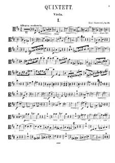 Piano Quintet in D Major, Op.16: Viola Part by Karel Navratil