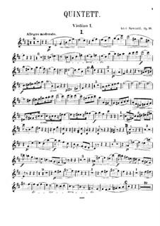 Piano Quintet in D Major, Op.16: Violin I part by Karel Navratil