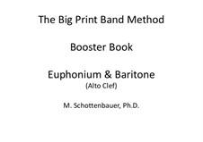Booster Book: Baritone & Euphonium (4-Valve) Alto Clef by Michele Schottenbauer