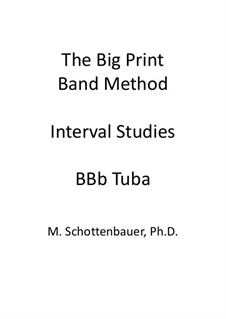 Interval Studies: Tuba (4-Valve) by Michele Schottenbauer
