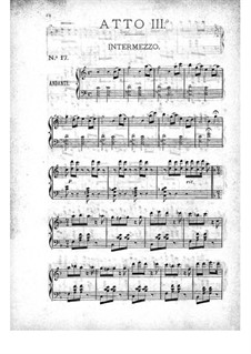 La belle Hélène (The Beautiful Helen): Act III, for piano by Jacques Offenbach