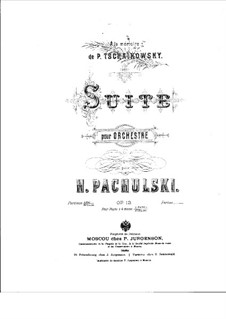 Suite for Orchestra, Op.13: Movements I-III by Henryk Pachulski