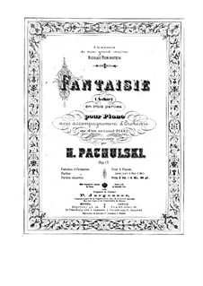 Fantasia for Piano and Orchestra, Op.17: For two pianos four hands by Henryk Pachulski