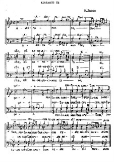 Adoramus te, Chtiste: For mixed choir by Orlande de Lassus