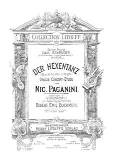 Le Streghe (Witches Dance), Op.8: For cello and piano by Niccolò Paganini