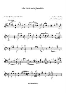 Gut Nacht mein feines Lieb: Für Gitarre by Friedrich Silcher