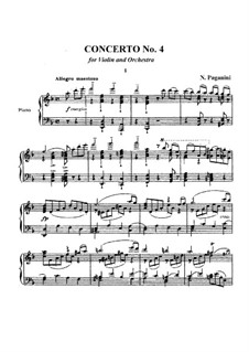 Concerto for Violin and Orchestra No.4 in D Minor, MS 60: Concerto for Violin and Orchestra No.4 in D Minor by Niccolò Paganini