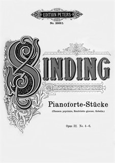 Six Pieces for Piano, Op.32: No.4-6 by Christian Sinding