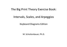 The Big Print Theory Exercise Book: Intervals, Scales, and Arpeggios: The Big Print Theory Exercise Book: Intervals, Scales, and Arpeggios by Michele Schottenbauer